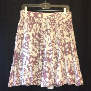 Mid calf length floral skirt with pockets
